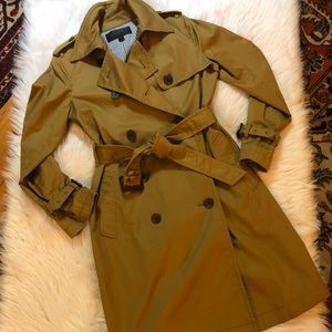 J. Crew City Trench Nut Brown Color Sz 2